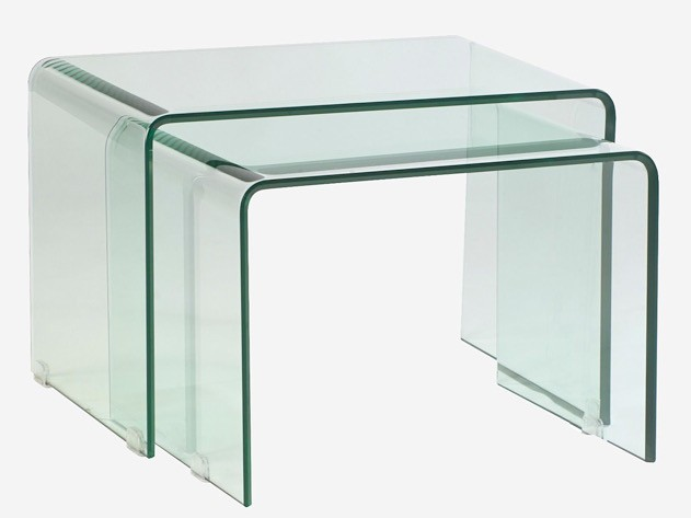 Set Of Two Minore Murano Tables 60 Cm X 42 Cm